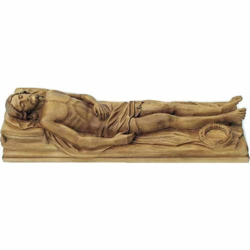Statue Christ Mort 120x40x35 cm en bois s1