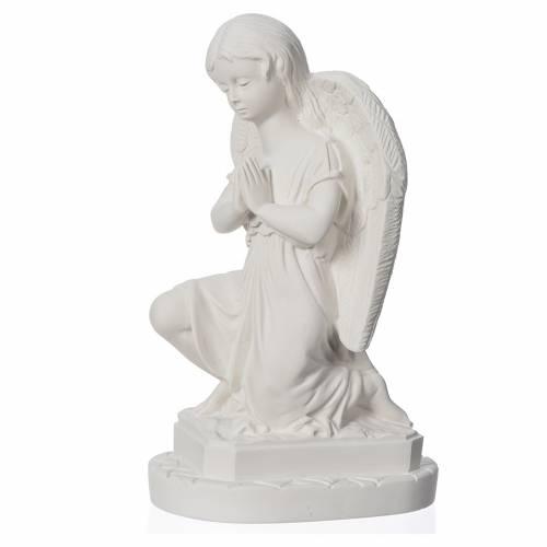 Statue extérieur Angelot mains jointes 28 cm marbre s2