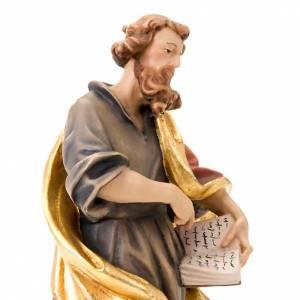 Statuen aus gemalten Holz: Statue Heilig Matteo Holz