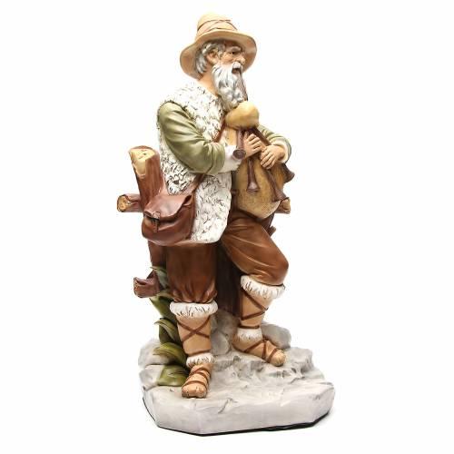 Statue joueur de cornemuse pour crèche 65 cm s4