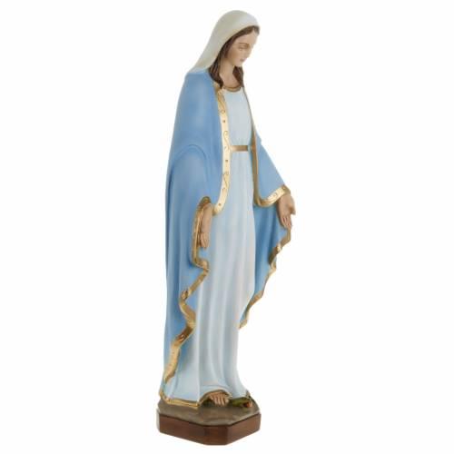 Statue Miraculeuse manteau bleu marbre 60cm s4