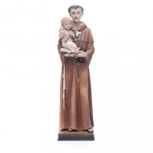 Holy Statues in resin & PVC: Statue of Saint Anthony 30 cm in coloured resin