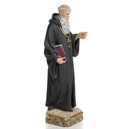 Statue Saint Benoit de Palerme 30 cm pâte à bois s2