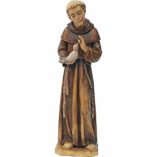 Statue Saint François en bois peint tailles variées s1