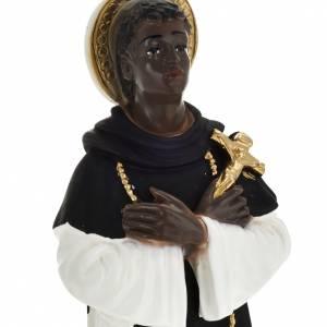 Statue Saint Martin de Porres plâtre 30 cm s2