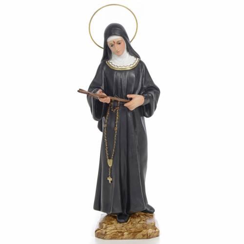 Statue Sainte Rita 30 cm pâte à bois s1