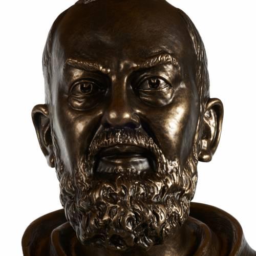 Statue San Pio fibre de verre patinée bronze 175 cm s9