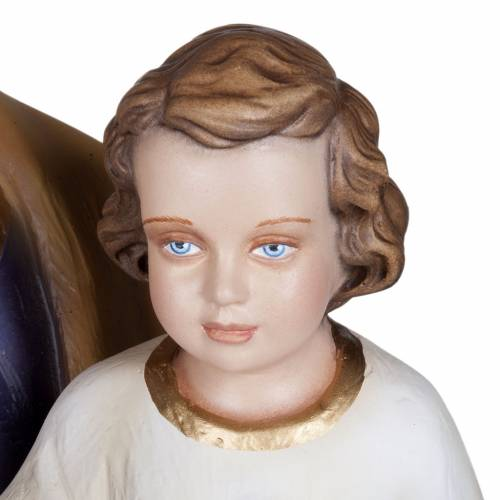 Statue St Joseph à l'enfant marbre 100cm peinte s6
