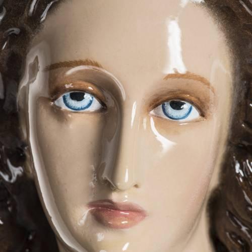 Statue Vierge de l'assomption 100 cm fibre de verre lucide s11