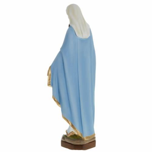 Statue Vierge Miraculeuse manteau bleu 60 cm fibre de verre s7