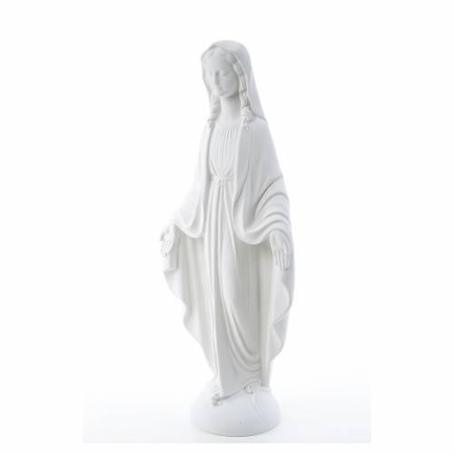 Statue Vierge Miraculeuse marbre blanc 75 cm s2