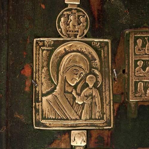Stauroteca antica russa 11 bronzi da XVI a XVIII secolo 3