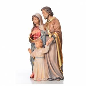Krippe aus Grödnertal Holz: Stehende Heilige Familie Grödnertal Holz