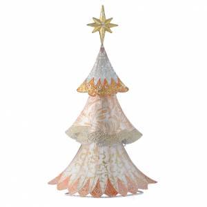Stilisierte Krippe: Stilisierter weisser Tannenbaum aus Metall