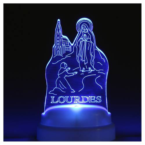 STOCK Base Apparition of Lourdes image with light s3