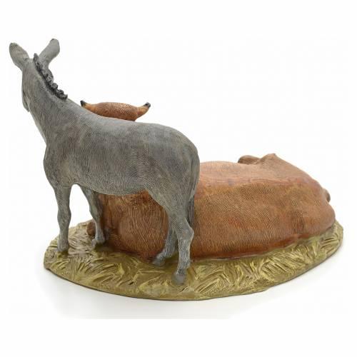 STOCK Ox and Donkey 12cm Landi Line in resin s3
