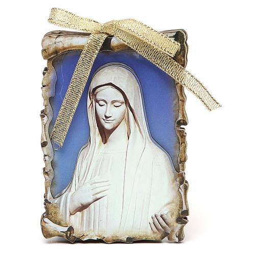 STOCK Small magnet wooden board 9,5x6,8 Medjugorje s1