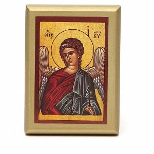 STOCK Small painting Angel golden border 10x6,5cm s1