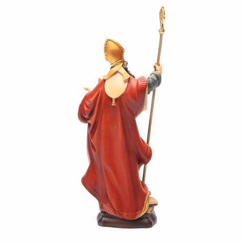 STOCK Statue Saint Blaise bois peint 20 cm s4
