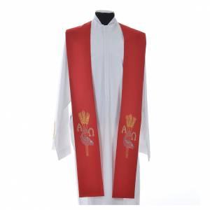 Priesterstolen: Stola Ähre Fische Alpha und Omega