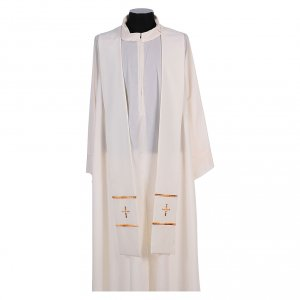 Stola ricamata a mano pura lana 4 colori - Monastero Montesole s4