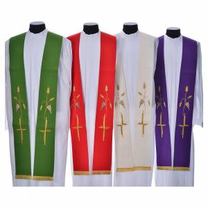 Stoles: Stole in polyestere with cross embroidery