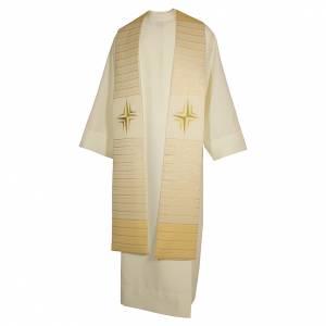 Stolone pura lana croce stilizzata doppio riporto s3