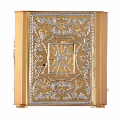 Tabernacle d'autel laiton Agneau Ange avec lunule s1