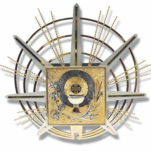 Tabernacolo a muro simboli eucaristici s1