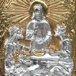 Tabernacolo da mensa legno e porta ottone Cena Emmaus s2