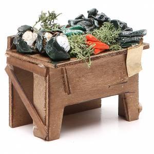 Table avec fruits en vrac 8x9x7 cm crèche Naples s3