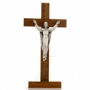 Standing crucifixes: Table crucifix risen Christ walnut.
