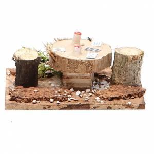 Table en bois sur base pour crèche 2,5x9x9 cm modèles assortis s2