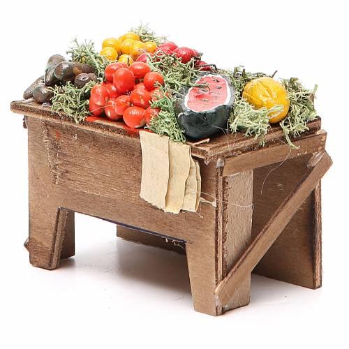 Table with veggies 8x9x7cm Naples Nativity s2