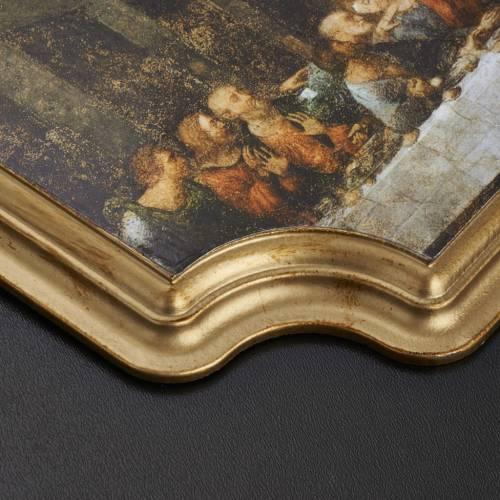 Tableau Dernière Cène cadre doré 27x20 cm s3