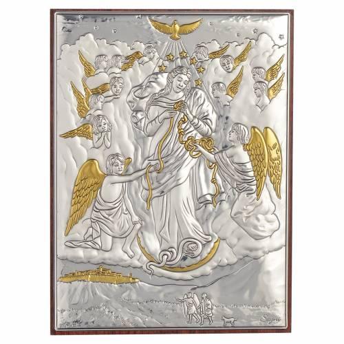 Tableau Marie qui défait les noeuds argent doré 13x18cm s1