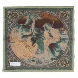 Tapisseries religieuses: Tapisserie inspirée de La Sainte Famille au palmier de Raphaël 65x65 cm
