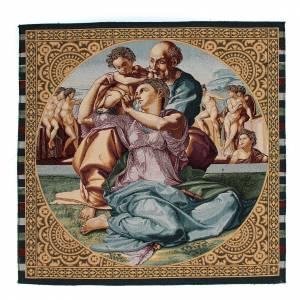 Tapisseries religieuses: Tapisserie inspirée du Tondo Doni de Michel-Ange 65x50 cm