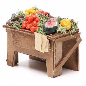 Tavola con verdure 8x9x7 cm presepe Napoli s2