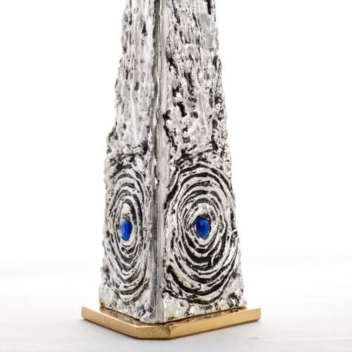 Teca ottone stilizzata pietre blu s5