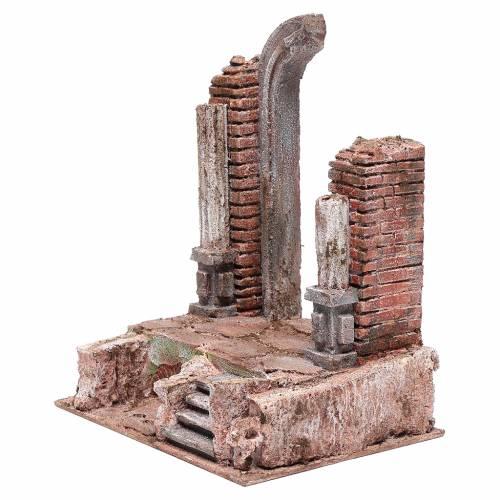 Tempio con porta e mezzo arco 30x25x20 cm s2
