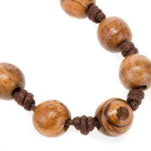 Assisi olive wood rosaries: Ten-bead rosary with knots