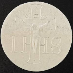 Thick altar bread 7.5 cm diameter 25 pcs bag s4