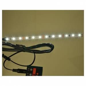 Tira de 12 LED cm. 0.8x16 cm. blanca fría Frisalight s2
