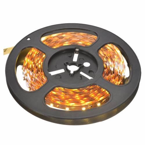 Tiras 5 m luces de Navidad 300 LED blanco cálido adhesivas y flexibles para interior s1