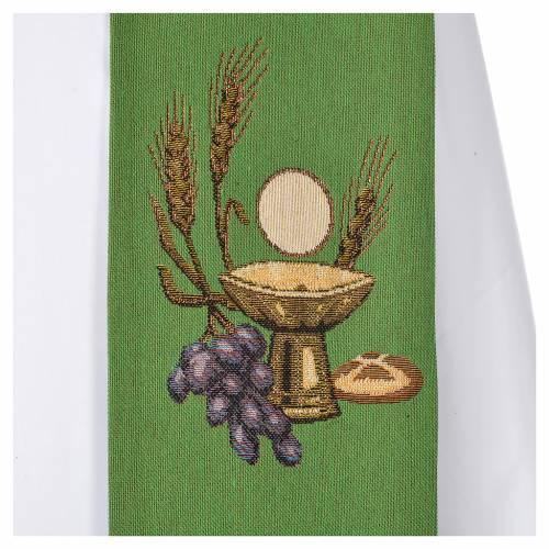 Étole calice hostie IHS polyester coton lurex s7