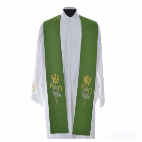 Étole de prêtre alpha oméga s6
