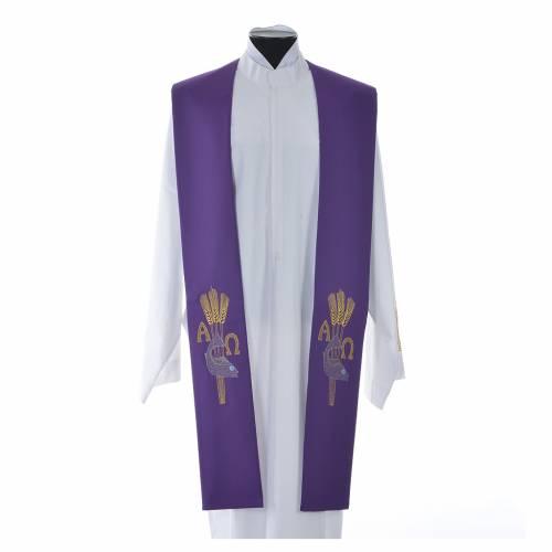 Étole de prêtre alpha oméga s3