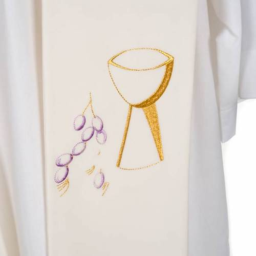 Étole de prêtre calice raisins s5