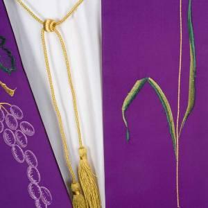 Étole de prêtre raisin et épi de blé s3